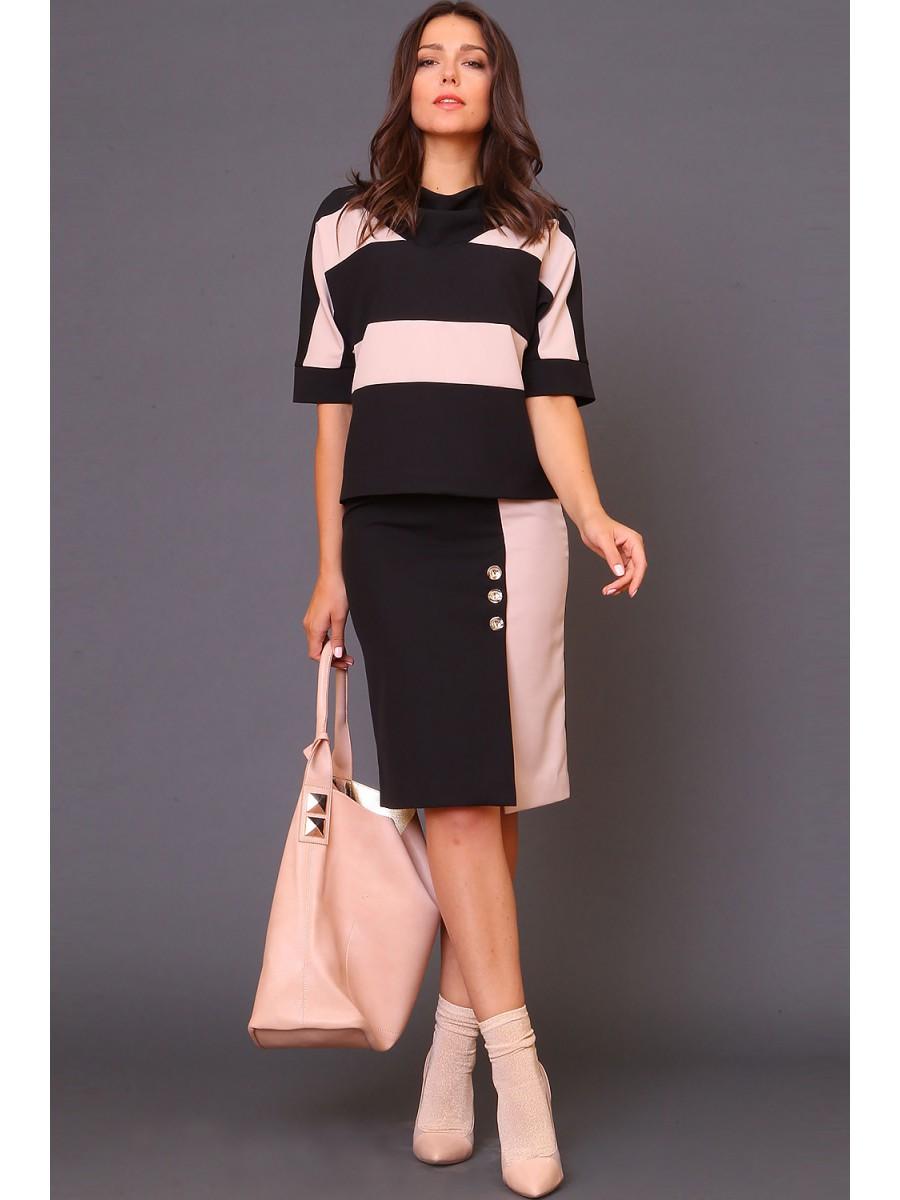 Двухцветные юбки фото