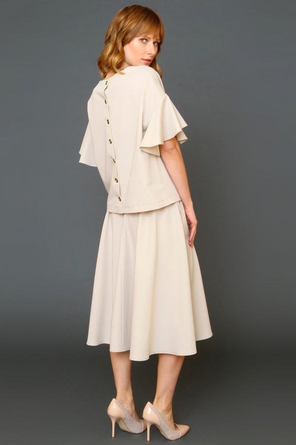 9944 Блуза с застежкой сзади
