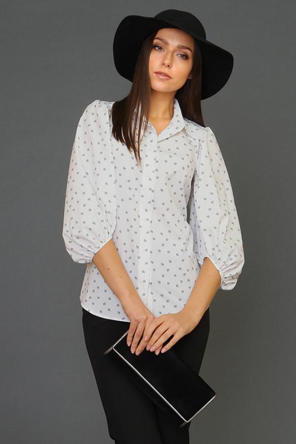 9937 Блуза с широким рукавом