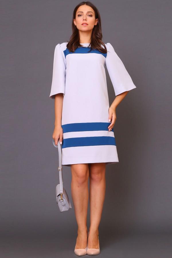 9970 Платье прямое с полоской