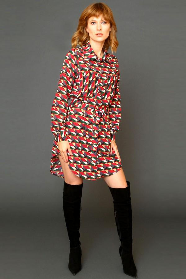 9952 Платье-рубашка с карманами