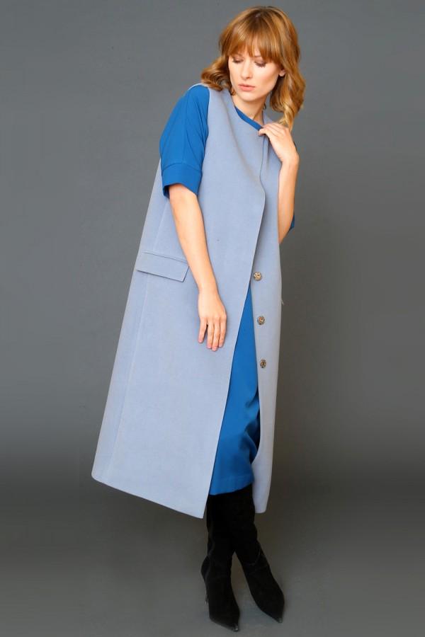 9943 Длинный жилет-пальто