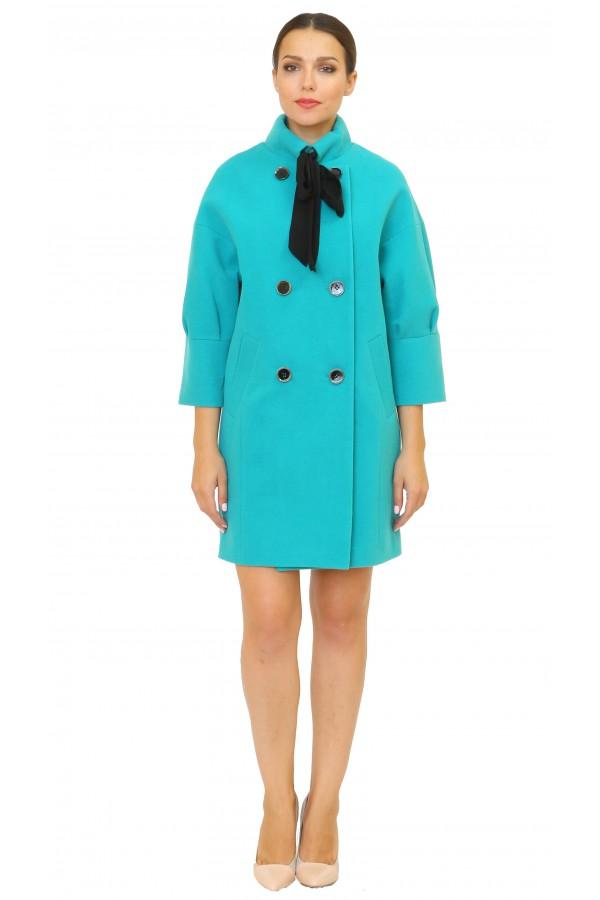 99941 Объемное  демисезонное пальто