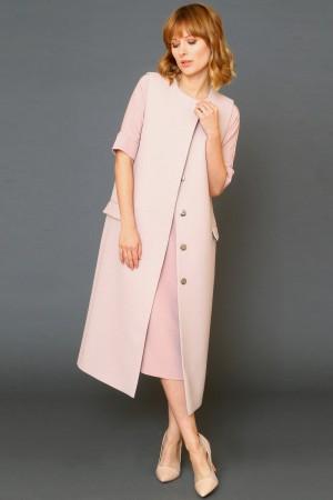 9958 Длинный жилет-пальто