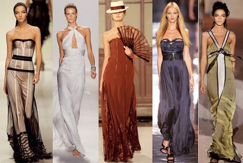 С чем и как сочетать длинное платье-макси?